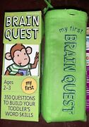My First Brain Quest For 2-3 Yrs 350 Qiestions To Build Toddlers Word Skills