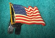 Nice Vintage American Flag License Plate Topper - Harley Indian Chevy Ford Usa