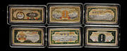 2005 China 6 X 24g Colorized Silver Bars / Medals - 1000 Yuan From 1st Rmb Notes