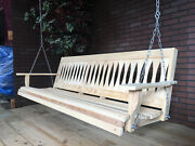 6ft Cypress Wood Diamond Porch Bench Swing With Hanging Hardware Made In Usa