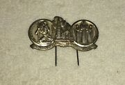 Vintage St Christopher And Mary Visor Clip - Auto Accessory Saint Guide Pin