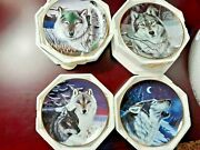 Franklin Mint Lot Of Collector Wolf Plates By Cassandra Graham