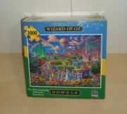 Eric Dowdle Folk Art 1000 Piece Jigsaw Puzzle The Wizard Of Oz Complete.