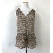 Willow And Clay Top Butterfly Print Blouse Nwt South Moon Under Sheer Sleeveless L