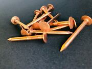 1-1/2 Solid Copper Roofing Nail11 Gauge 25 Pcs