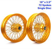 16 Front Rear Wheels Single Disc 72 Spokes For Softail Dyna Fxdl Touring 84-07