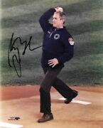 George W Bush Signed Autographed 8x10 1st Pitch After 9-11 Jsa Certified