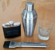 Jack Daniels Party Pack...shaker Flask Tumbler And Bbq Brush