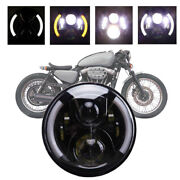 1pc 7 Inch Motorcycle Headlight Led Turn Signals Lights For Harley Cafe Racer