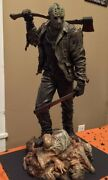 Extremely Rare Friday The 13th Jason Voorhees Crystal Lake Big Figurine Statue