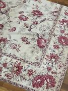Antique 19th C. Big Scale Indienne With Border Fabric Panel  L 44 X W 25