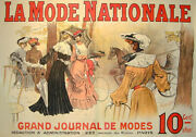 Gugord - La Mode Nationale French Fashion Original Poster C.1895 Linen Backed