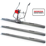 8ft, 10ft, And 12ft Concrete Power Screed Boards 1.8hp Honda Engine Finishing Tool