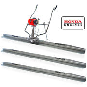 8ft 12ft And 14ft Concrete Power Screed Boards 1.8hp Honda Engine Finishing Tool