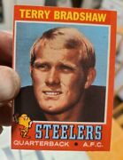 1971 Topps Terry Bradshaw Pittsburgh Steelers Rookie Football Card 156