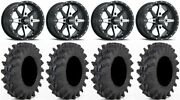 Itp Cyclone 14 Wheels Machined 28 Outback Max Tires Suzuki Kingquad
