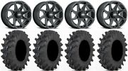 Itp Twister 14 Wheels Milled 28 Outback Max Tires Suzuki Kingquad