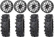 System 3 St-3 Black 20 Wheels 36 Outback Maxand039d Tires Textron Wildcat Xx