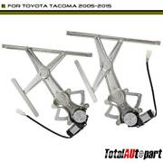 2x Power Window Regulator Left And Right For Toyota Tacoma 05-15 741-610 W/ 2-pin