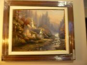 Thomas Kinkade The Forest Chapel 24 X 30 S/n Le Canvas