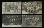 Pre-ww2 French Soldiers - Military Photo Postcards Lot - 4 Real