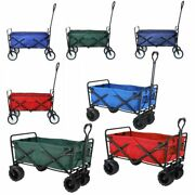Heavy Duty Collapsible Outdoor Utility Wagon Folding Portable Hand Cart Sport