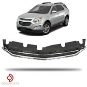 Fits 2016 2017 Chevrolet Equinox Front Upper Grille Grill Chrome Replacement