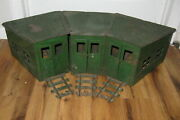Antique Vtg Buddy L 80 Pressed Steel 3 Round House 1920s Rare Train Station Toy