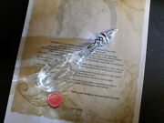 Quality Hand Made Elvish Style Glass Phial Which Glows Blue Under Uv Light