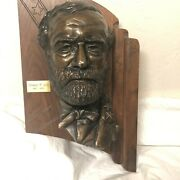 Robert E Lee Or Abraham Lincoln Wall Mounted Bronze Bust. Sold Individually.