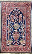Fine Wool Oriental Carpet Beautiful Hand Made Red Floral Rug 11ft X 9ft Clean