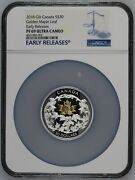 Silver Maple Leaf 2018 Canada 2oz Silver And 18k Gold Coin 30 Pf69 Uc Er