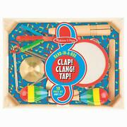 Melissa And Doug Band-in-a-box Clap Clang Tap Instrument Set - Ages 3 Years +