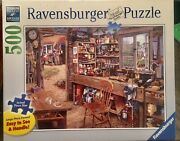 Ravensburger Dad's Shed 500 Piece Jigsaw Puzzle Brand New Sealed