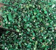 Natural 2-3 Mm Colombian Green Emerald Gemstone Rough Lot Festive Discount