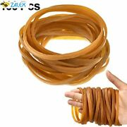 100 Pieces Rubber Bands Elastic Trash Can Bands Office File Folder Strong Elasti