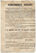 Broadside Workingmen Arouse To The Workingmen Of The City And County Of Albany