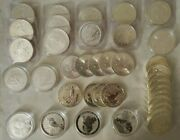Lot Of 37 Silver Bullion Coins