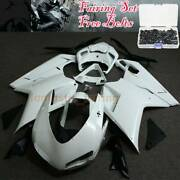 Abs Injection Fairing Bodywork Kit For Ducati 848 1098 1198 2007-2012 W/ Bolts