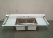 Advance Tabco Two Bowl/compartment Sink Restaurant Equipment.