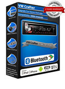 Vw Crafter Deh-3900bt Car Stereo Usb Cd Mp3 Aux In Bluetooth Handsfree Kit