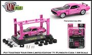 Build Your Own And03971 Plymouth Cuda M2 Machines 164th Diecast Car Lift Included