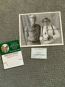 Rare Bartles And Jaymes Mancave Bundle Table Tent Membership Card Signed Photo