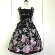 Baby The Stars Shine Blight Jsk And039rose Bouquetand039 Lolita Black By Dhl From Japan