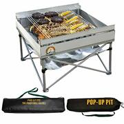 Portable Pop Up Fire Pit And Bbq Tri Folding Grill For Outdoor Camping Firepit