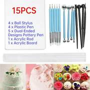 15pcs Clay Sculpting Dual‑ended Pottery Tools Kits Carving Modeling Tool Set New