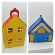 Lot Of 2 Peppa Pig And Playmobil City Life House Play Set Dollhouse Portable Used