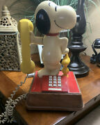 Snoppy And Wood Stock And Landline Phone By American Telephone