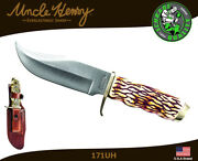 Schrade Uncle Henry Fixed Knife Pro Hunter 7cr17mov Staglon Handle Sheath 171uh