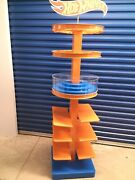 Rare Official Hot Wheels Toy Car Store Display Rack Stand 7 Foot Tall Steel